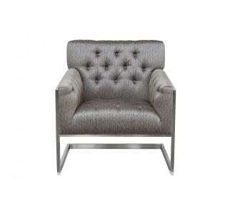 Кресло на металлическом основании серое